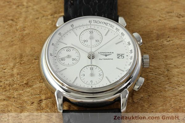 Used luxury watch Longines Les Grande Classique chronograph steel automatic Kal. L667.2 ETA 7750 Ref. L4.686.4  | 150426 15