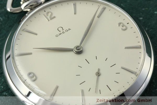 Used luxury watch Omega Taschenuhr steel manual winding Kal. 161  | 150437 02