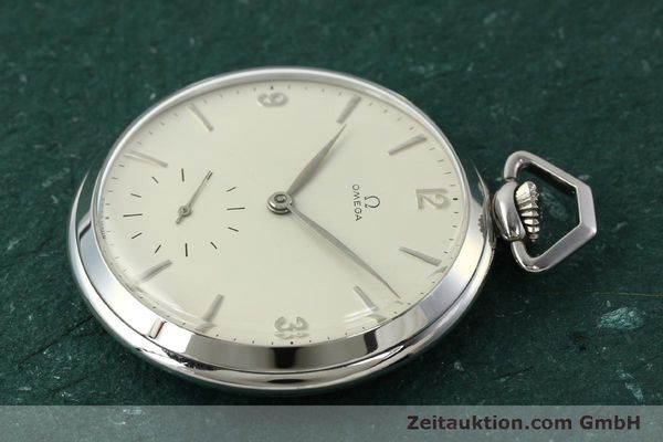 Used luxury watch Omega Taschenuhr steel manual winding Kal. 161  | 150437 03