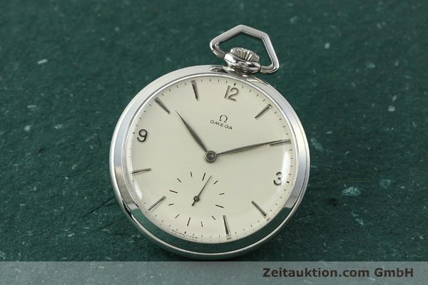 Used luxury watch Omega Taschenuhr steel manual winding Kal. 161  | 150437 04