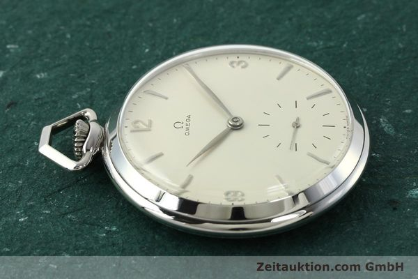 Used luxury watch Omega Taschenuhr steel manual winding Kal. 161  | 150437 05