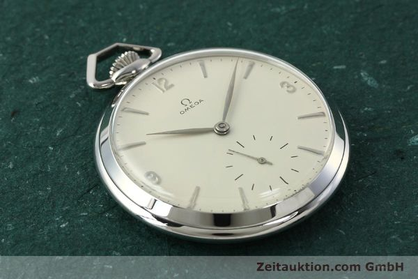Used luxury watch Omega Taschenuhr steel manual winding Kal. 161  | 150437 13