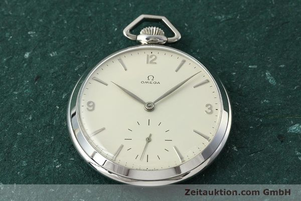 Used luxury watch Omega Taschenuhr steel manual winding Kal. 161  | 150437 14