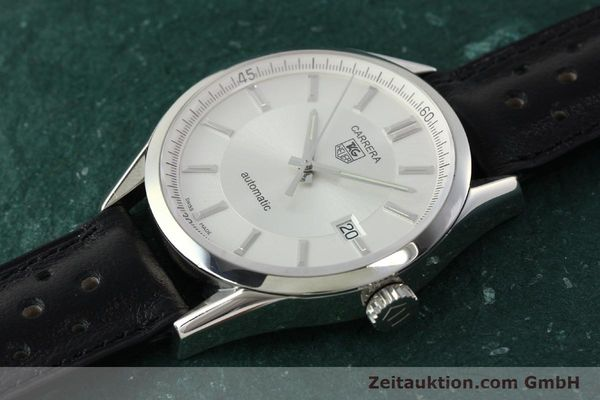 Used luxury watch Tag Heuer Carrera steel automatic Kal. 5 ETA 2824-2 Ref. WV211A-0  | 150438 01