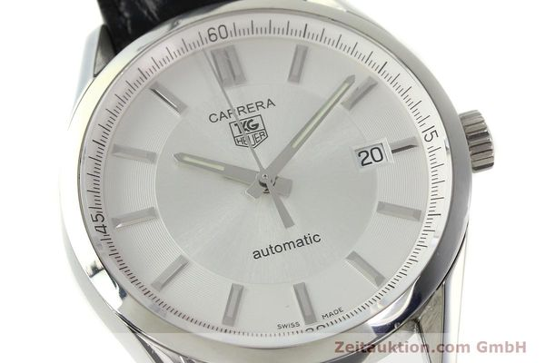 Used luxury watch Tag Heuer Carrera steel automatic Kal. 5 ETA 2824-2 Ref. WV211A-0  | 150438 02