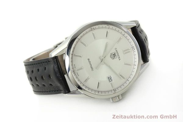 Used luxury watch Tag Heuer Carrera steel automatic Kal. 5 ETA 2824-2 Ref. WV211A-0  | 150438 03