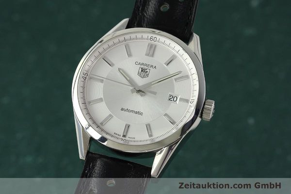 Used luxury watch Tag Heuer Carrera steel automatic Kal. 5 ETA 2824-2 Ref. WV211A-0  | 150438 04