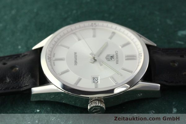 Used luxury watch Tag Heuer Carrera steel automatic Kal. 5 ETA 2824-2 Ref. WV211A-0  | 150438 05