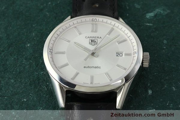 Used luxury watch Tag Heuer Carrera steel automatic Kal. 5 ETA 2824-2 Ref. WV211A-0  | 150438 15