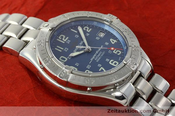 Used luxury watch Breitling Superocean steel automatic Kal. B17 ETA 2824-2 Ref. A17340  | 150449 15