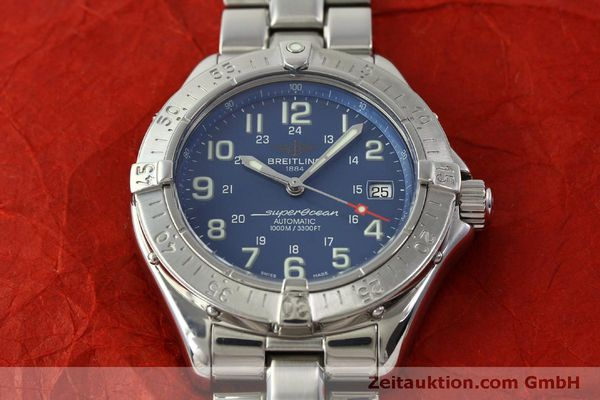 Used luxury watch Breitling Superocean steel automatic Kal. B17 ETA 2824-2 Ref. A17340  | 150449 16