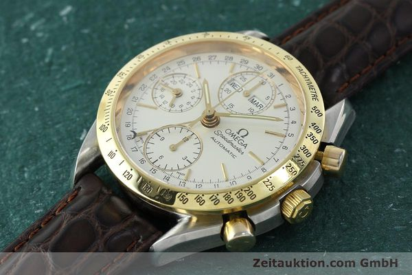 Used luxury watch Omega Speedmaster chronograph steel / gold automatic Kal. 1150  | 150454 01
