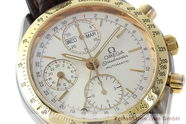 Used luxury watch Omega Speedmaster chronograph steel / gold automatic Kal. 1150  | 150454 02