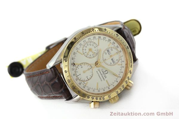 Used luxury watch Omega Speedmaster chronograph steel / gold automatic Kal. 1150  | 150454 03