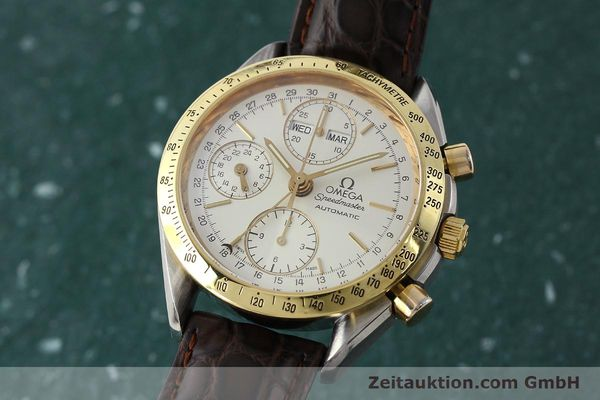 Used luxury watch Omega Speedmaster chronograph steel / gold automatic Kal. 1150  | 150454 04