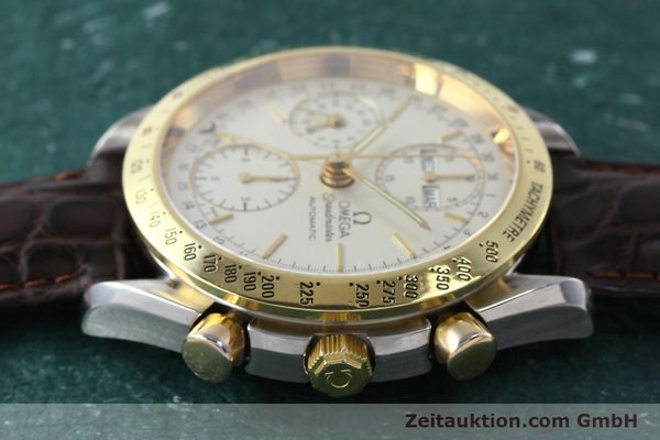Used luxury watch Omega Speedmaster chronograph steel / gold automatic Kal. 1150  | 150454 05