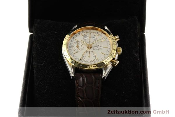 Used luxury watch Omega Speedmaster chronograph steel / gold automatic Kal. 1150  | 150454 07