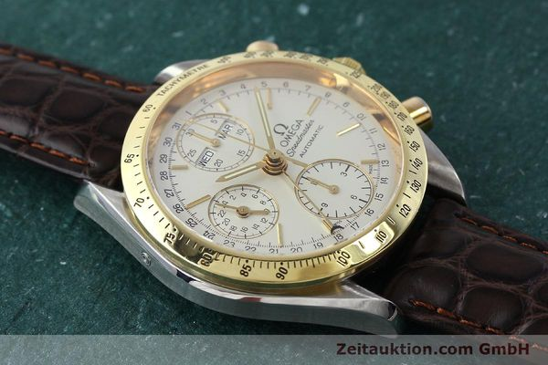 Used luxury watch Omega Speedmaster chronograph steel / gold automatic Kal. 1150  | 150454 13