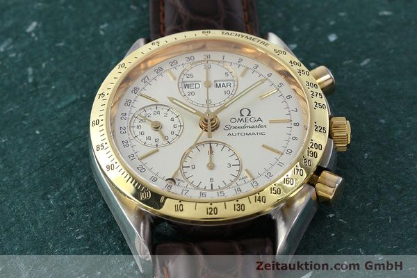 Used luxury watch Omega Speedmaster chronograph steel / gold automatic Kal. 1150  | 150454 14