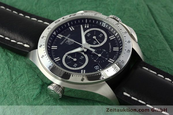 Used luxury watch Tag Heuer SLR chronograph steel automatic Kal. 17 ETA 2894-2 Ref. CAG2110 LIMITED EDITION | 150460 15