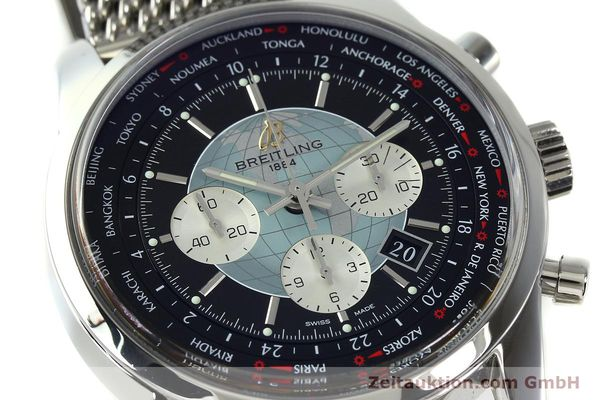 Used luxury watch Breitling Transocean chronograph steel automatic Kal. B05 Ref. AB0510  | 150483 02
