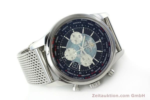 Used luxury watch Breitling Transocean chronograph steel automatic Kal. B05 Ref. AB0510  | 150483 03