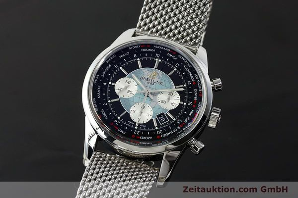 Used luxury watch Breitling Transocean chronograph steel automatic Kal. B05 Ref. AB0510  | 150483 04