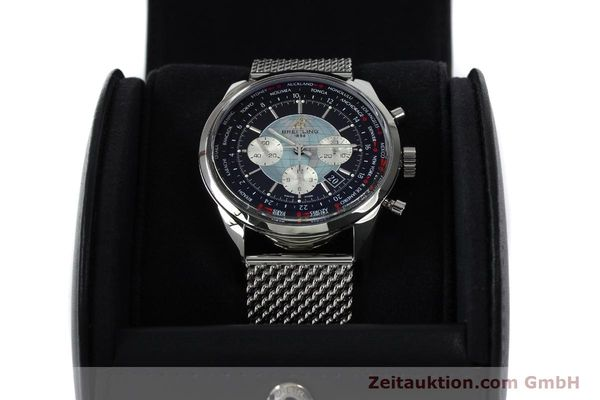 Used luxury watch Breitling Transocean chronograph steel automatic Kal. B05 Ref. AB0510  | 150483 07