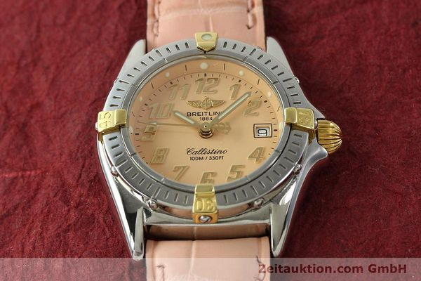 Used luxury watch Breitling Callistino steel / gold quartz Kal. B52 Ref. B52345  | 150496 14