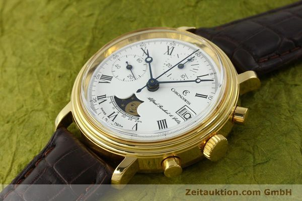Used luxury watch Chronoswiss A. Rochat chronograph gold-plated manual winding Kal. Valj. 7768  | 150501 01