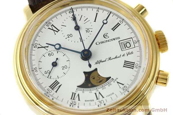 Used luxury watch Chronoswiss A. Rochat chronograph gold-plated manual winding Kal. Valj. 7768  | 150501 02