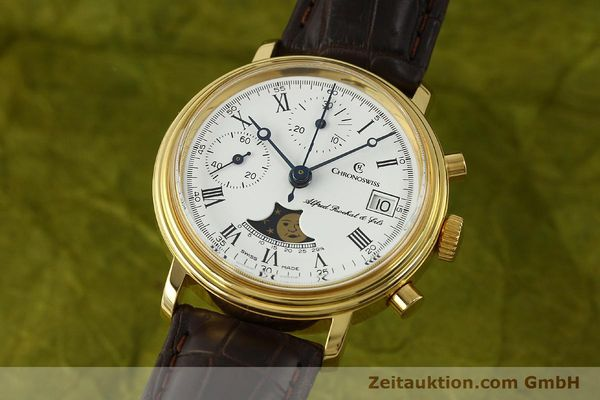 Used luxury watch Chronoswiss A. Rochat chronograph gold-plated manual winding Kal. Valj. 7768  | 150501 04
