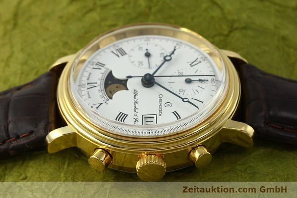 Used luxury watch Chronoswiss A. Rochat chronograph gold-plated manual winding Kal. Valj. 7768  | 150501 05