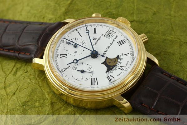 Used luxury watch Chronoswiss A. Rochat chronograph gold-plated manual winding Kal. Valj. 7768  | 150501 13