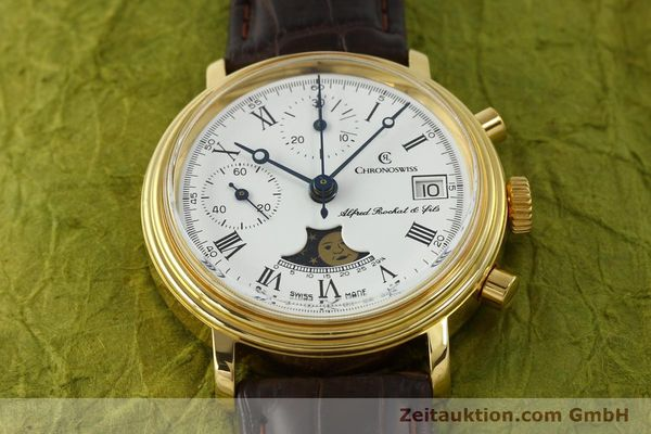 Used luxury watch Chronoswiss A. Rochat chronograph gold-plated manual winding Kal. Valj. 7768  | 150501 14