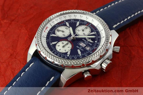 Used luxury watch Breitling Bentley chronograph steel automatic Kal. B13 ETA 7750 Ref. A13362  | 150508 01