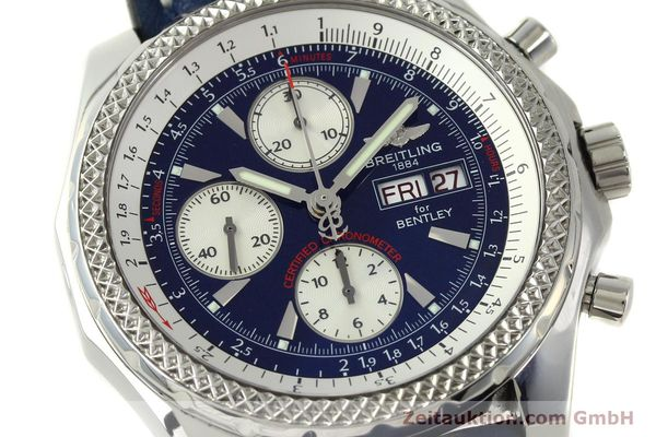Used luxury watch Breitling Bentley chronograph steel automatic Kal. B13 ETA 7750 Ref. A13362  | 150508 02