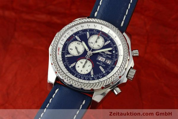 Used luxury watch Breitling Bentley chronograph steel automatic Kal. B13 ETA 7750 Ref. A13362  | 150508 04