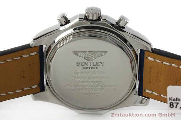 Used luxury watch Breitling Bentley chronograph steel automatic Kal. B13 ETA 7750 Ref. A13362  | 150508 09