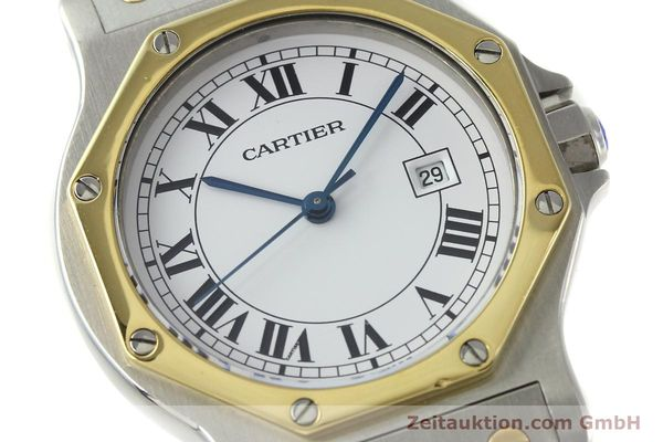 Used luxury watch Cartier Santos steel / gold automatic Kal. ETA 2671  | 150513 02