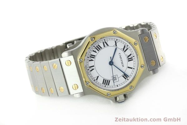Used luxury watch Cartier Santos steel / gold automatic Kal. ETA 2671  | 150513 03