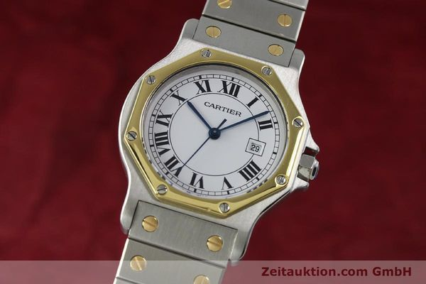 Used luxury watch Cartier Santos steel / gold automatic Kal. ETA 2671  | 150513 04