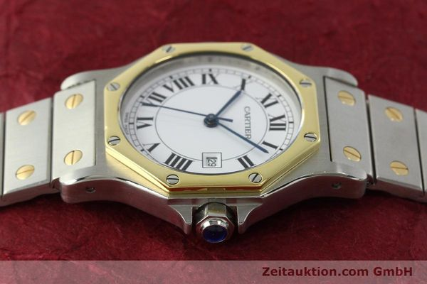 Used luxury watch Cartier Santos steel / gold automatic Kal. ETA 2671  | 150513 05