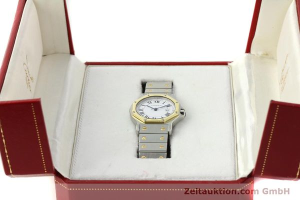 Used luxury watch Cartier Santos steel / gold automatic Kal. ETA 2671  | 150513 07