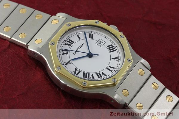 Used luxury watch Cartier Santos steel / gold automatic Kal. ETA 2671  | 150513 14