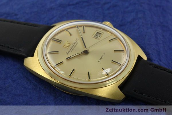 Used luxury watch IWC * 18 ct gold automatic Kal. 8541B VINTAGE  | 150518 13
