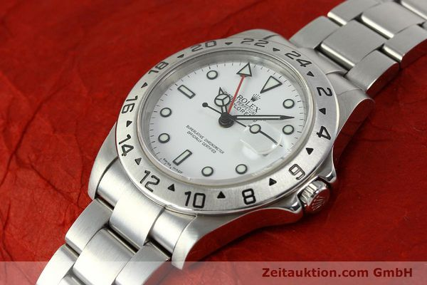 Used luxury watch Rolex Explorer II steel automatic Kal. 3185 Ref. 16570 T  | 150519 01
