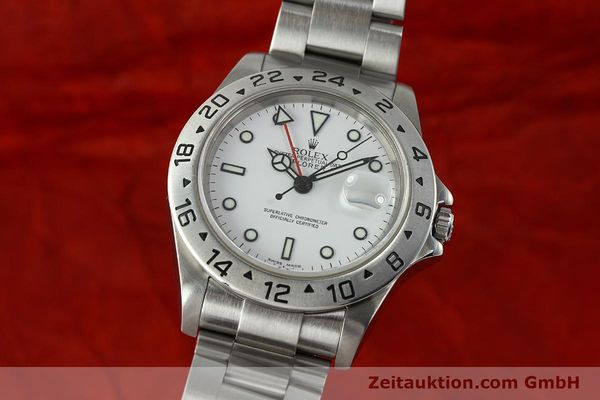 Used luxury watch Rolex Explorer II steel automatic Kal. 3185 Ref. 16570 T  | 150519 04
