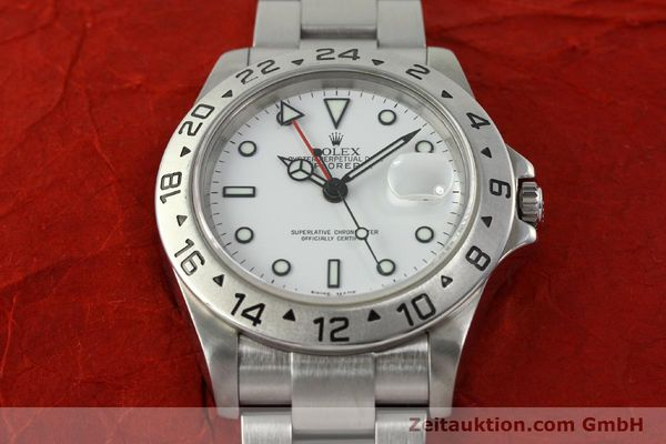 Used luxury watch Rolex Explorer II steel automatic Kal. 3185 Ref. 16570 T  | 150519 16