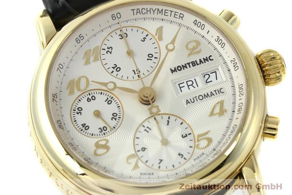 Used luxury watch Montblanc Meisterstück chronograph 18 ct gold automatic Kal. 4810501 Ref. 7000  | 150535 02